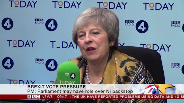 Prime Minister Theresa May talks to John Humphries on the Today program on Radio 4 (BBC)