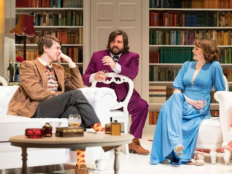 Tom Rosenthal, Matt Berry and Charlotte Ritchie in 'The Philanthropist' at Trafalgar Studios: Mauel Harlan