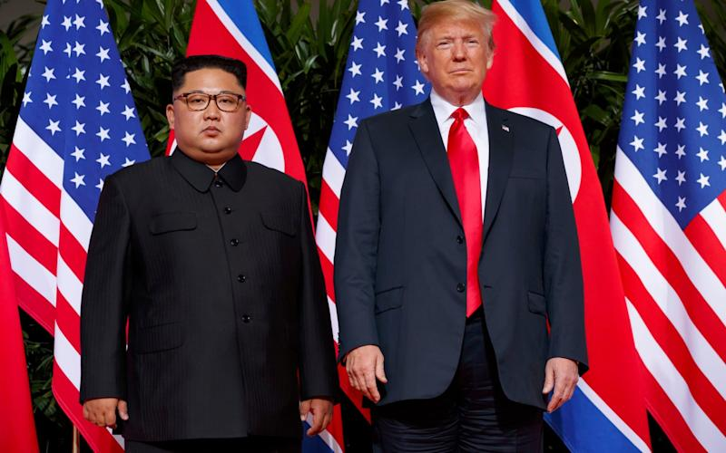 Little progress has been made since the June Singapore summit towards denuclearisation of the Korean peninsula  - AP