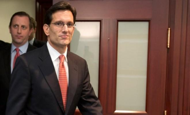 """House Majority Leader Eric Cantor was one of 151 House Republicans to vote """"no"""" on the fiscal cliff deal."""