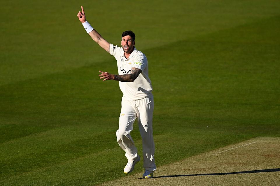 <p>Reece Topley appeals</p> (Getty Images)