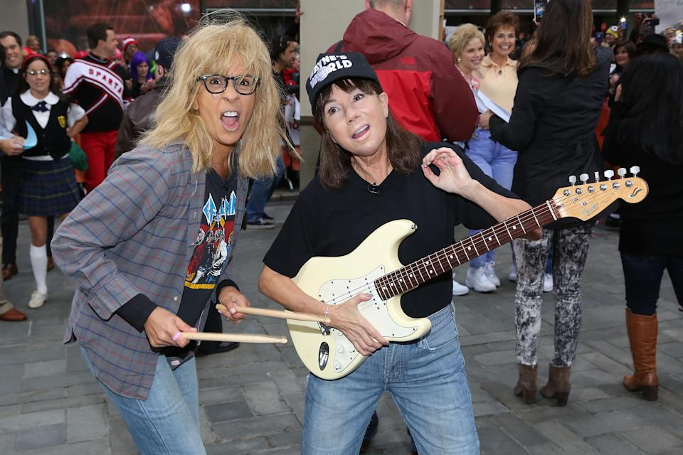 Party time, excellent: Kathie Lee and Hoda won Halloween again with their best <em>Wayne's World</em> impression. Do you have jeans and a faded T-shirt in your closet? Great, you're practically there.
