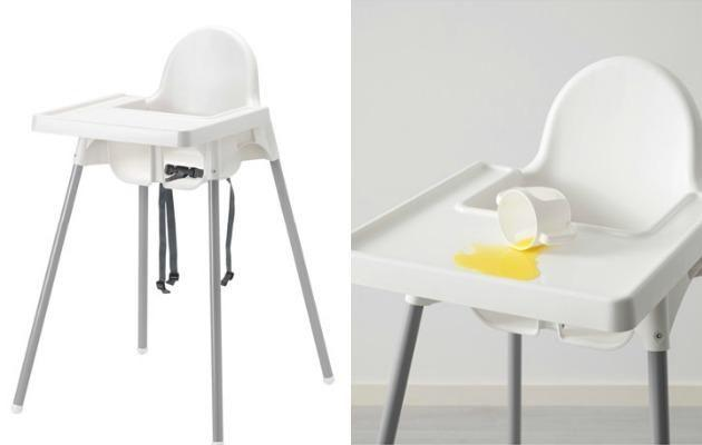 This IKEA highchair will make your life so much easier when it comes to cleaning up after your toddler. Source: IKEA