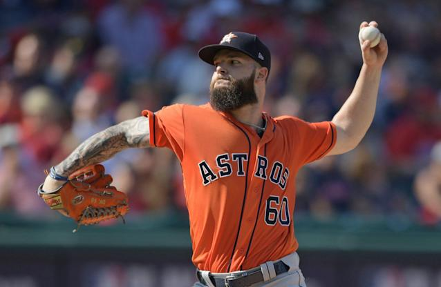 Free agent All-Stars Dallas Keuchel (pictured) and Craig Kimbrel may be lowering their asking prices. (AP Photo)