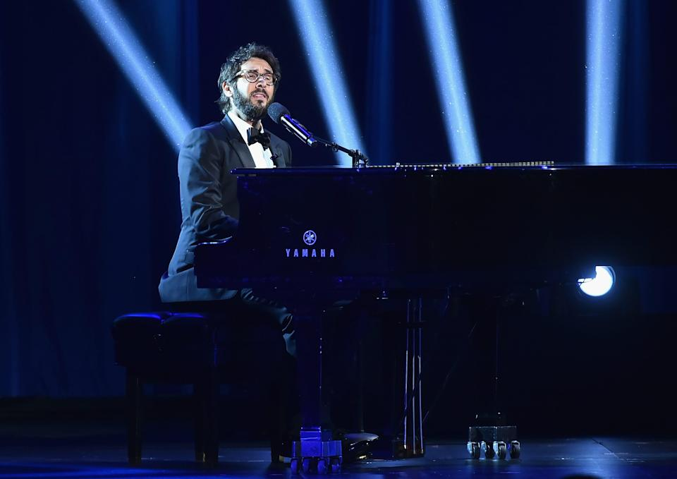 "Josh Groban performs onstage during the 72nd Annual Tony Awards at Radio City Music Hall. He closed out the show at the first-ever ""Indoguration"" for President-elect Joe Biden's dog Major."