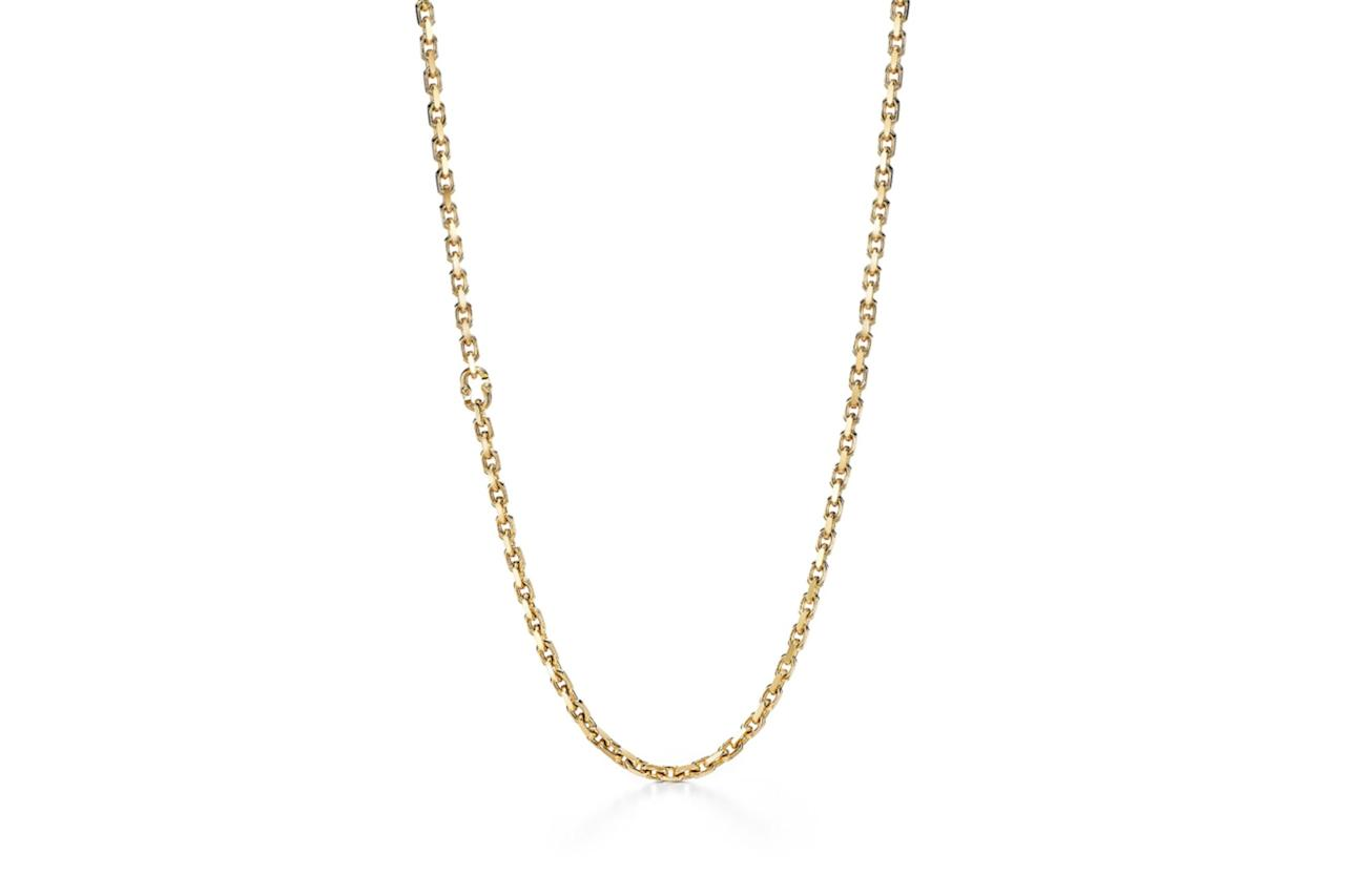 "$14000, Tiffany. <a href=""https://www.tiffany.com/jewelry/necklaces-pendants/tiffany-1837-makers-chain-necklace-in-18k-gold-24-63448850/"">Get it now!</a>"