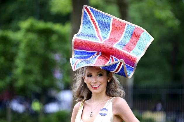 A racegoer attends day four of Royal Ascot at Ascot Racecourse on June 22, 2012 in Ascot, England -- Getty Images