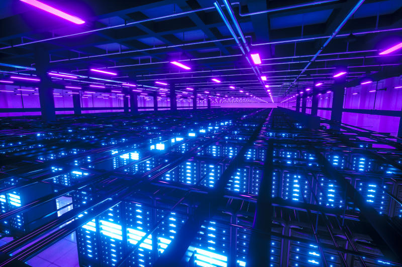 Big Data network severs racks