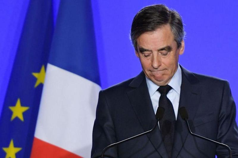 Mr Fillon apologised for the 'anti-Semitic' image posted on his party's Twitter page, saying it went against his values and pledging those behind it would face sanctions: AFP/Getty