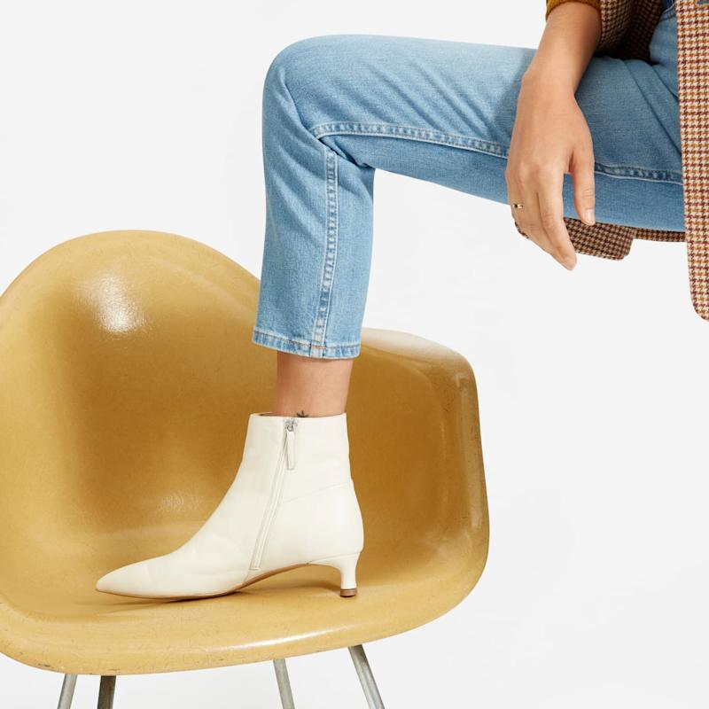 These ankle boots are also discounted in the sale which ends at midnight tonight [Image: Everlane]