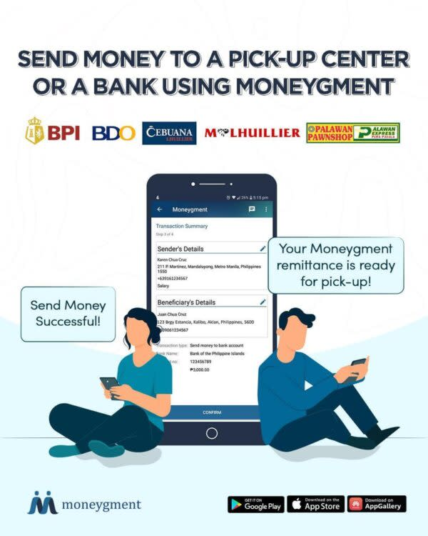 Moneygment App Guide - How to Send Money