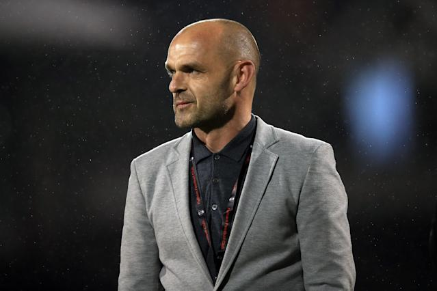 LONDON, ENGLAND - APRIL 27: Former Fulham player Danny Murphy during the Sky Bet Championship match between Fulham and Sunderland at Craven Cottage on April 27, 2018 in London, England. (Photo by Marc Atkins/Offside/Getty Images)