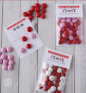 """<p>By using festive-colored M&M's as markers, kids <em>and</em> adults will want to get in on the action!</p><p><strong>Get the tutorial at <a href=""""https://www.passionforsavings.com/valentines-day-tic-tac-toe-board-bag-topper/"""" rel=""""nofollow noopener"""" target=""""_blank"""" data-ylk=""""slk:Passion for Savings"""" class=""""link rapid-noclick-resp"""">Passion for Savings</a>.</strong></p><p><a class=""""link rapid-noclick-resp"""" href=""""https://www.amazon.com/Light-Pink-White-Red-Chocolate/dp/B084KXDD4P/?tag=syn-yahoo-20&ascsubtag=%5Bartid%7C10050.g.25916974%5Bsrc%7Cyahoo-us"""" rel=""""nofollow noopener"""" target=""""_blank"""" data-ylk=""""slk:SHOP M&M'S"""">SHOP M&M'S</a></p>"""