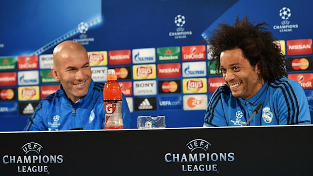 Zinedine Zidane Marcelo Viera Real Madrid Champions League Press 05042016