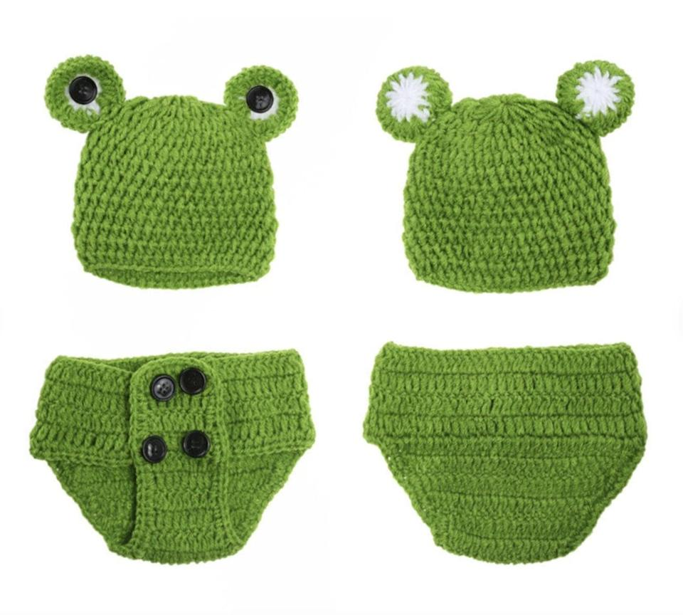 <p>This set of newborn <span>Kermit the Frog Costumes</span> ($32) is as precious as they come. </p>