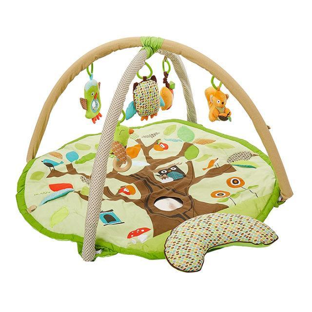 """<p>This playmat is worth every cent with all the use it'll get. With five sensory toys, babies are sure to be mesmerized for hours. Or, at least until they get hungry. ($75; <a rel=""""nofollow noopener"""" href=""""https://www.amazon.com/Skip-Hop-Treetop-Friends-Activity/dp/B0042RU2SW/?tag=syndication-20"""" target=""""_blank"""" data-ylk=""""slk:amazon.com"""" class=""""link rapid-noclick-resp"""">amazon.com</a>)</p>"""