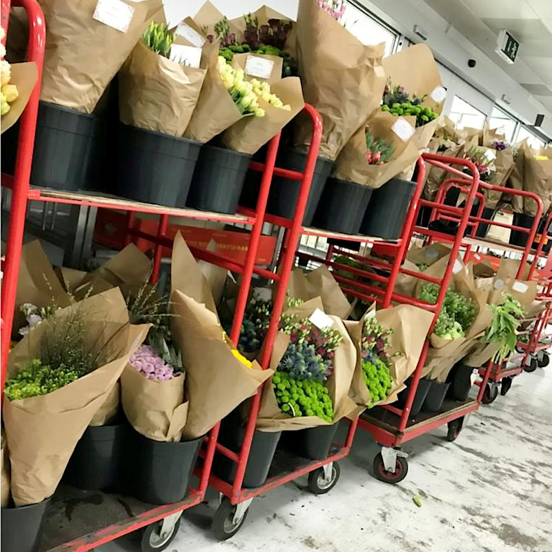 All the 5,000 bouquets had gone within a couple of hours (SWNS)