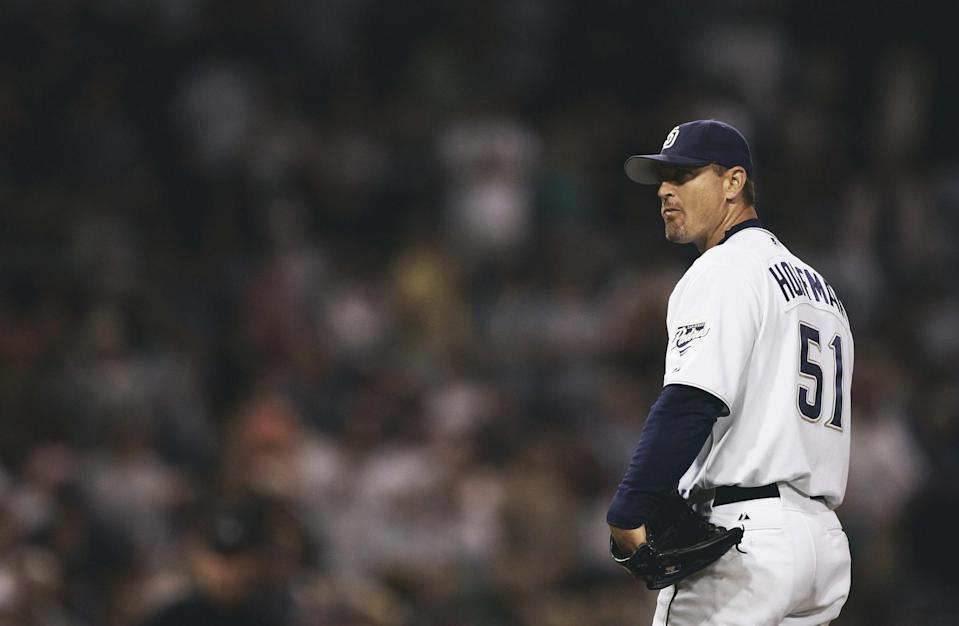 Trevor Hoffman is close to Cooperstown, but not yet. (Getty Images)