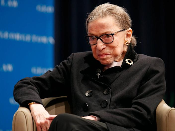 "Supreme Court Justice Ruth Bader Ginsburg. <p class=""copyright"">Associated Press</p>"