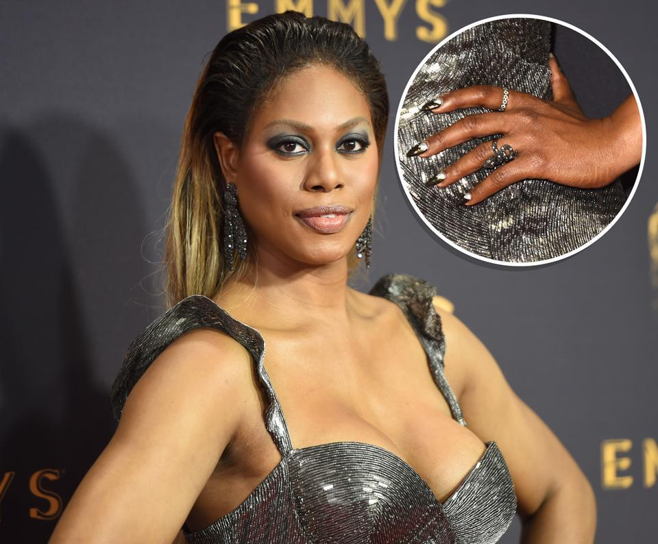 Laverne Cox's Emmy nails had a meaningful message. (Photo: Getty Images)