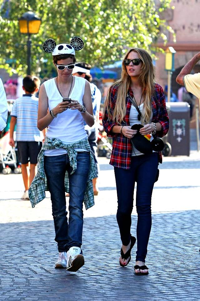 "In addition to Clay coming out, Lindsay Lohan confirmed her relationship with DJ Samantha Ronson during a radio interview with ""Loveline"" co-host Ted Stryker. When asked about how long she'd been going out with Ronson, Lohan responded, ""A very long time."" Clint Brewer/<a href=""http://www.splashnewsonline.com/"" target=""new"">Splash News</a> - September 24, 2008"