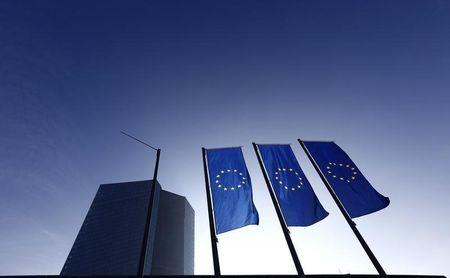 The new European Central Bank (ECB) headquarters is pictured in Frankfurt