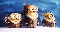 """<p><strong>What It's About:</strong> """"Since the dawn of time, Minions have served (and accidentally eliminated) history's most despicable villains. After their latest explosive mistake leaves them without an evil leader, the Minions fall into a deep depression. With the tribe on the brink of collapse, three unlikely heroes - Kevin, Stuart, and Bob - embark on a journey to find a new big boss. When their quest leads them to their next potential master, Scarlet Overkill (Academy Award winner <a class=""""link rapid-noclick-resp"""" href=""""https://www.popsugar.com/Sandra-Bullock"""" rel=""""nofollow noopener"""" target=""""_blank"""" data-ylk=""""slk:Sandra Bullock"""">Sandra Bullock</a>), our three heroes must face their biggest challenge yet: saving all of Minionkind . . . from annihilation!""""</p> <p><a href=""""https://www.youtube.com/watch?v=bEwl_-EPtM4"""" class=""""link rapid-noclick-resp"""" rel=""""nofollow noopener"""" target=""""_blank"""" data-ylk=""""slk:Buy or rent Minions on YouTube here!"""">Buy or rent <strong>Minions</strong> on YouTube here!</a></p>"""