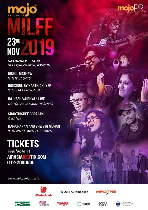 Here are all the Indian artistes that will be performing at MILFF 2019.