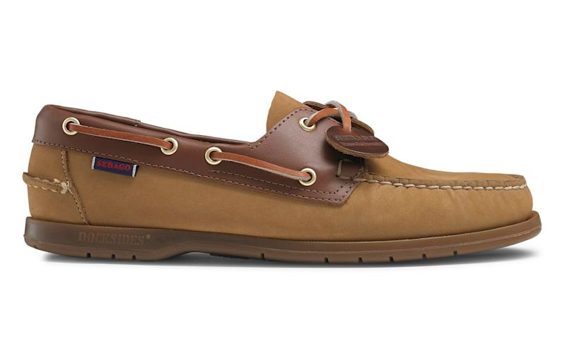 Two-tone Dockside boat shoes