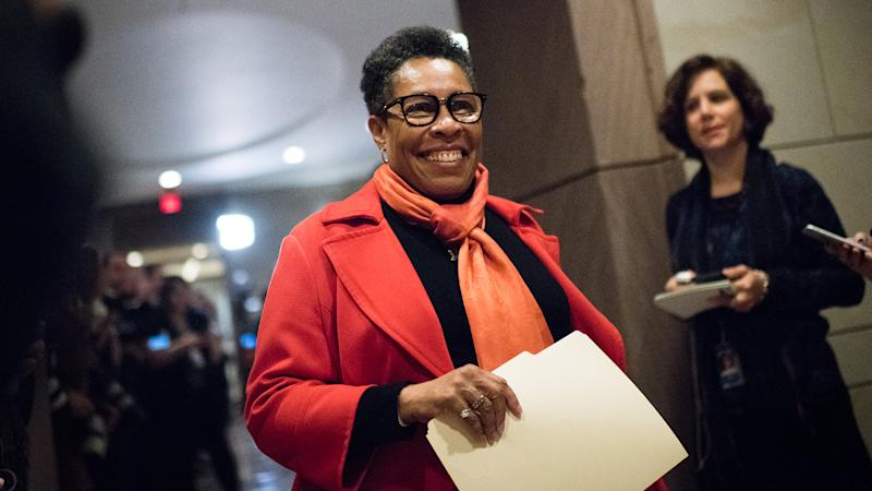 Congresswoman Marcia L. Fudge (Ohio) leaves a closed door meeting at Capitol Visitor Center Auditorium. (Photo : Sarah L. Voisin/The Washington Post via Getty Images)