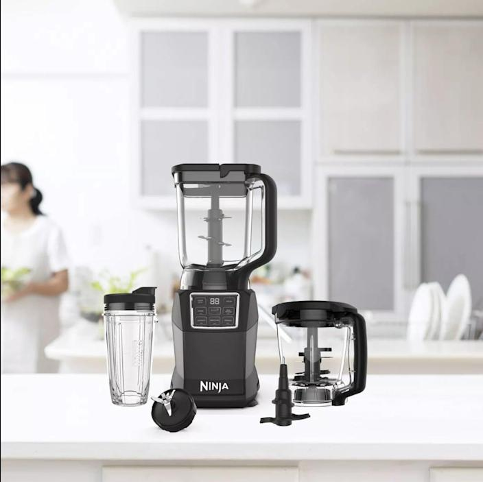 <p>From smoothies, soups, sauces, and more, do it all with the <span>Ninja Kitchen System with Auto IQ Boost and 7-Speed Blender</span> ($170, originally $200).</p>