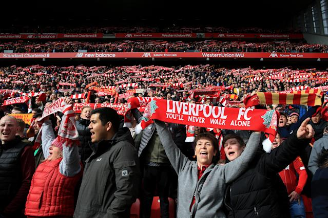 Aficionados del Liverpool. (Photo by Simon Stacpoole/Offside/Offside via Getty Images)