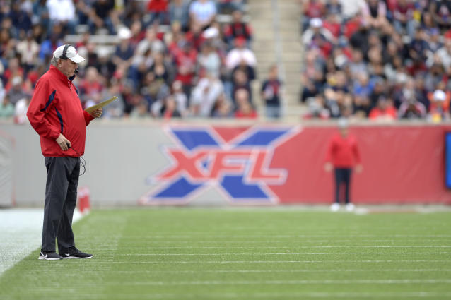 Within hours of a major officiating error in Saturday's Houston-Seattle game, the XFL owned up to the mistake, apologized for it and reassigned an official. (Thomas Campbell/XFL/Getty Images)