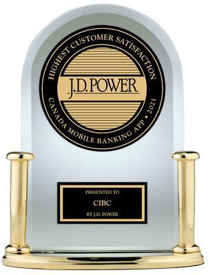 J.D. Power Canada Mobile Banking App 2021 (CNW Group/CIBC)