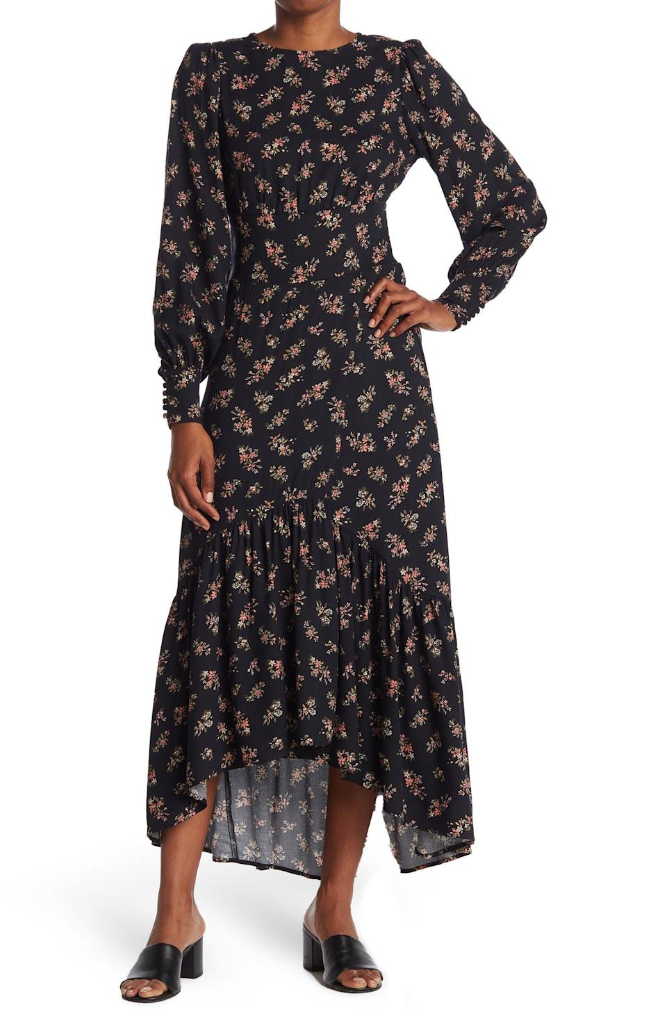 """<h2>AFRM Gilda Back Cutout Dress</h2><br>Though you can't tell from the front view, the backside of this long-sleeve maxi has a gorgeous <a href=""""https://www.refinery29.com/en-us/best-cut-out-dresses"""" rel=""""nofollow noopener"""" target=""""_blank"""" data-ylk=""""slk:cut-out"""" class=""""link rapid-noclick-resp"""">cut-out</a> that will stun all those around you.<br><br><strong>The Hype:</strong> 4.6 out of 5 stars and 12 reviews on <a href=""""https://www.nordstromrack.com/s/afrm-gilda-back-cutout-dress/6099761"""" rel=""""nofollow noopener"""" target=""""_blank"""" data-ylk=""""slk:NordstromRack.com"""" class=""""link rapid-noclick-resp"""">NordstromRack.com</a><br><br><strong>What They're Saying: </strong>""""Wore this to a party and got tons of compliments! Very flattering!"""" — cami, NordstromRack.com reviewer<br><br><strong>AFRM</strong> Gilda Back Cutout Dress, $, available at <a href=""""https://go.skimresources.com/?id=30283X879131&url=https%3A%2F%2Fwww.nordstromrack.com%2Fs%2Fafrm-gilda-back-cutout-dress%2F6099761"""" rel=""""nofollow noopener"""" target=""""_blank"""" data-ylk=""""slk:Nordstrom Rack"""" class=""""link rapid-noclick-resp"""">Nordstrom Rack</a>"""