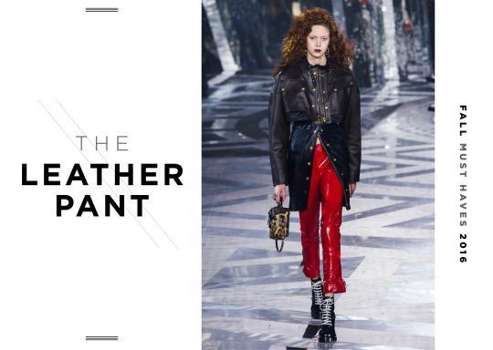 <p>Be bold, be brave and go for a red leather this fall! </p>