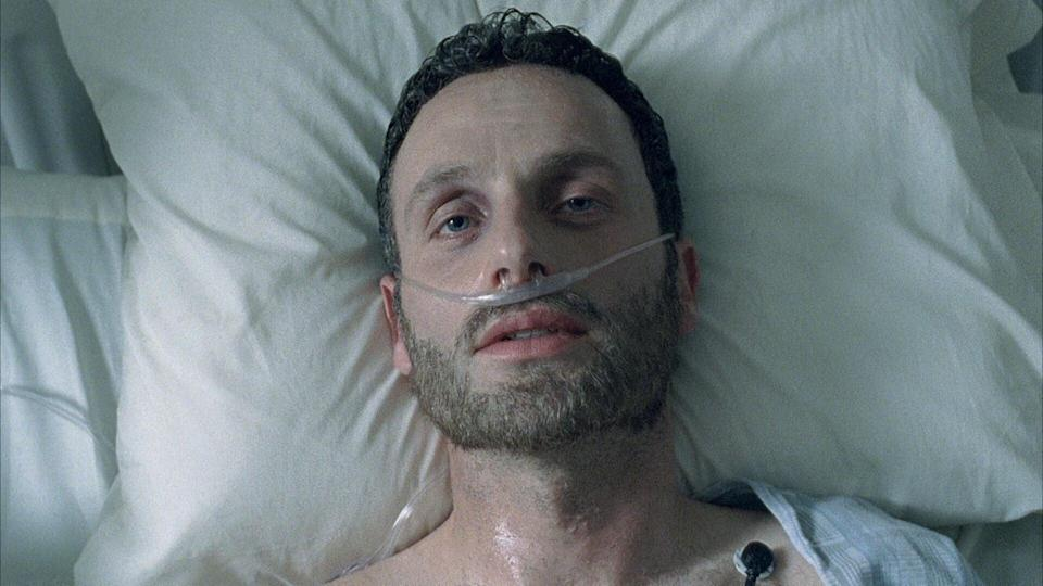 <p> First impressions count. The Walking Dead&apos;s premiere, happily, doesn&#x2019;t waste a single second. </p> <p> The writers of &quot;Days Gone Bye&quot; should be commended for just how much they snugly fit into a single opening episode: the premise of the outbreak, the mystery of Rick in an abandoned hospital, and the very first face-to-face interaction with a walker &#x2013; all communicated effectively and efficiently, a masterwork in show and not tell. It&#x2019;s a tricky balancing act, but one the opener pulls off thanks to smartly anchoring the viewer to Andrew Lincoln&#x2019;s wide-eyed Rick throughout. </p> <p> Oh, and there&#x2019;s a tank during the episode&#x2019;s final minutes. A freaking tank! If nothing else, the show made you want to watch next week.&#xA0; </p>
