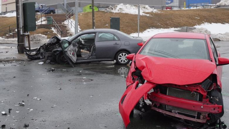 Collision at busy St. John's intersection sends 2 to hospital