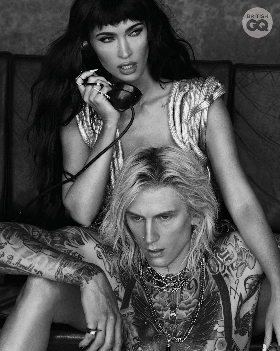 Megan Fox and Machine Gun Kelly appear on the cover of British GQ Style's Autumn/Winter 2021 issue (GQ: Daniella Midenge)