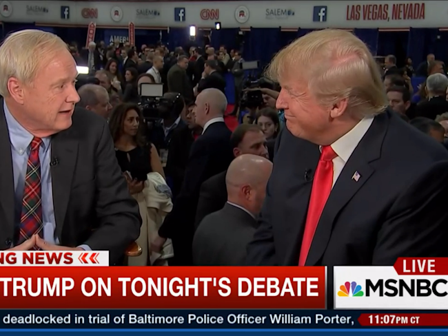 Msnbcs Chris Matthews Confronted Donald Trump About Obamas Birth