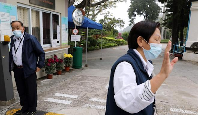 Medical workers at Lei Yue Mun Park holiday camp which has been set up for suspected coronavirus patients. Photo: Dickson Lee