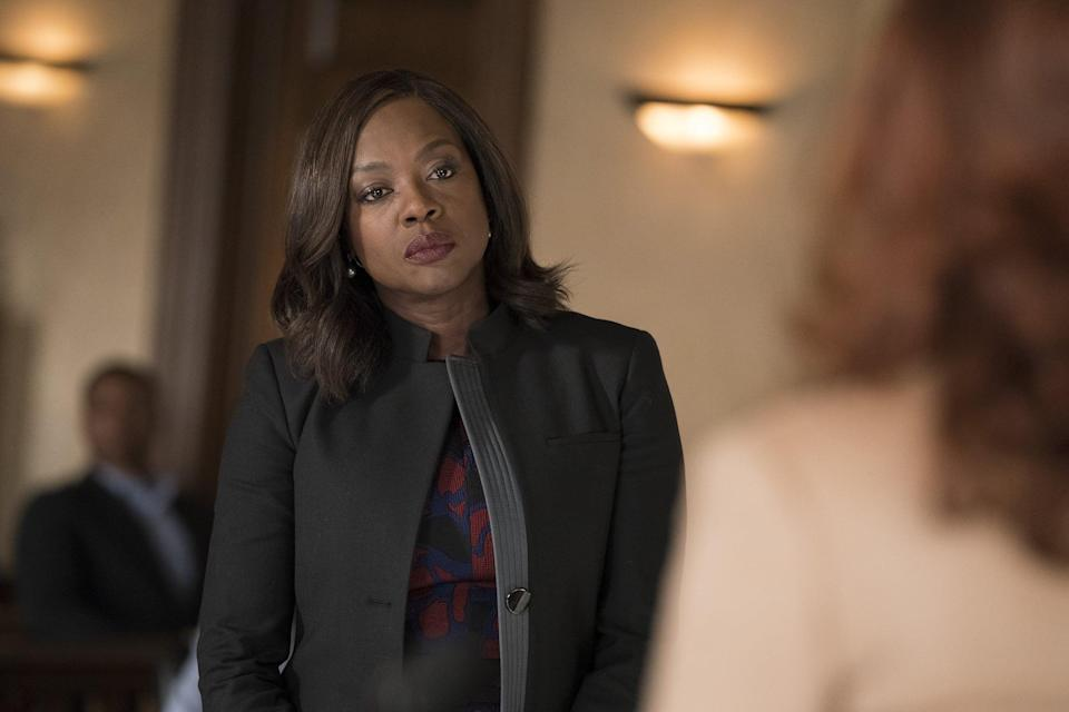 """<p>Viola Davis owns every moment of this addictive Shonda Rhimes series. Even though trouble (and murder) follows Annalise Keating everywhere she goes, you'll still want to sign up for her unconventional law class after watching just one episode of this mystery series. </p> <p>Watch <a href=""""https://www.netflix.com/title/80024057"""" class=""""link rapid-noclick-resp"""" rel=""""nofollow noopener"""" target=""""_blank"""" data-ylk=""""slk:How to Get Away With Murder""""><strong>How to Get Away With Murder</strong></a> on Netflix now.</p>"""
