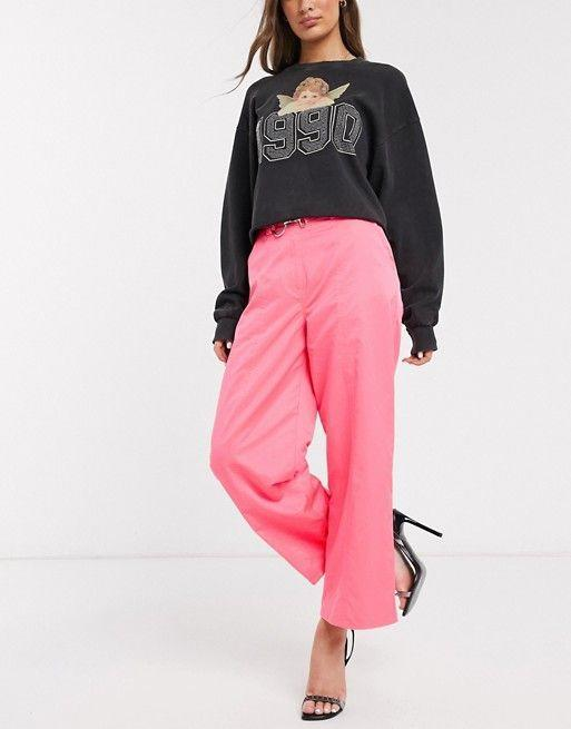 """<p><strong>Asos DESIGN</strong></p><p>us.asos.com</p><p><strong>$15.35</strong></p><p><a href=""""https://go.redirectingat.com?id=74968X1596630&url=https%3A%2F%2Fwww.asos.com%2Fus%2Fasos-design%2Fasos-design-satin-skate-pant-in-hot-pink%2Fprd%2F13659526&sref=https%3A%2F%2Fwww.goodhousekeeping.com%2Fbeauty%2Ffashion%2Fg31811906%2Fcute-summer-outfits%2F"""" rel=""""nofollow noopener"""" target=""""_blank"""" data-ylk=""""slk:Shop Now"""" class=""""link rapid-noclick-resp"""">Shop Now</a></p><p>Instead of white or khaki this summer, pick up a hot pink hue and let your imagination go wild. Pair with a graphic print t-shirt and white sneaker.</p>"""