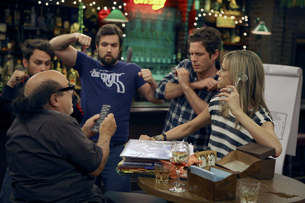 "<p><b>1. Paddy's Pub (""<a href=""http://tv.yahoo.com/it-39-s-always-sunny-in-philadelphia/show/37574"">It's Always Sunny in Philadelphia</a>"")</b><br><br> Though we're not thrilled about how they cut their limes at ""The Most Freedom Loving Bar in America,"" there's always an open booth in a prime spot for watching the Philly-loving freaks who own the place. But if you're planning a good old-fashioned Irish pub outing there on a rainy day, be warned: You may find yourself caught in the middle of a Game of Games. </p>"