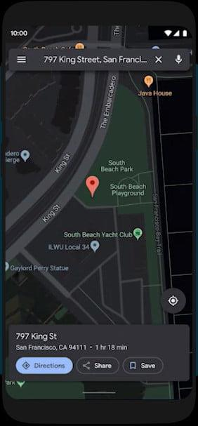 gmail google assistant maps dark mode