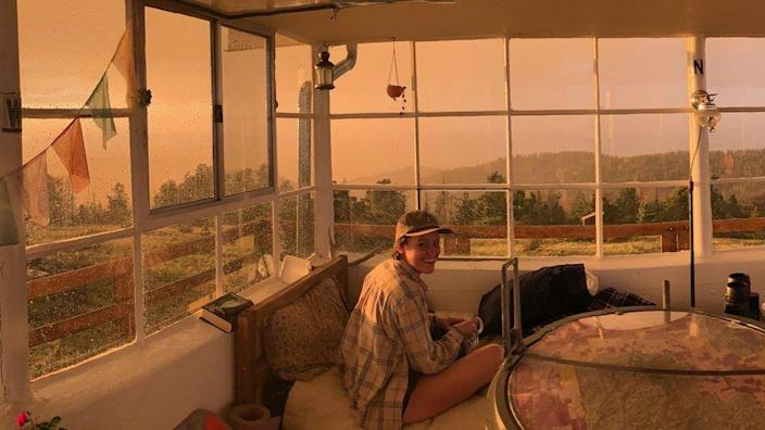 Kelsey Sims' fire lookout in New Mexico