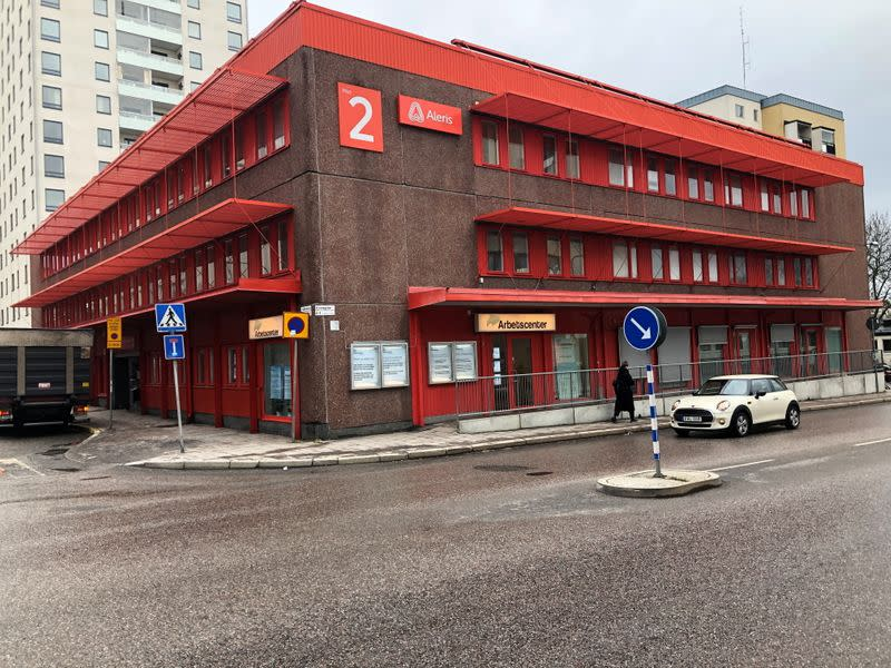 A view of the job center in Stockholm