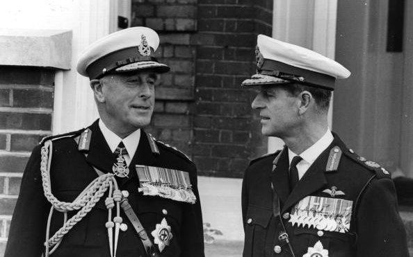 Prince Philip pictured with his uncle, Lord Mountbatten - Getty