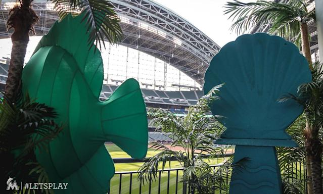 The Brewers gave Miller Park some Miami flair with Marlins series forced to Milwaukee by Hurricane Irma.