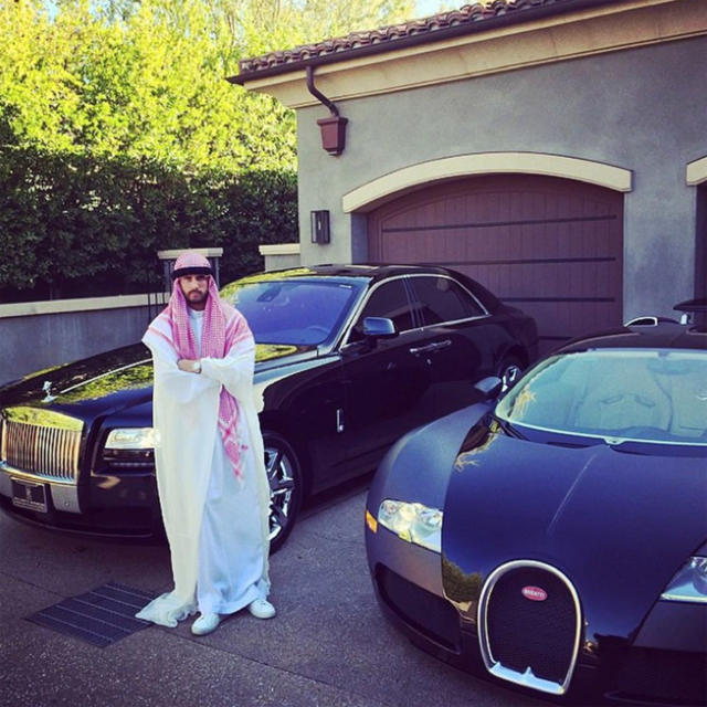 <p>The reality TV star has made loads of bad decisions — just ask Kourtney Kardashian. But in 2014, he was called out for dressing as an Arab sheik. (Photo: Scott Disick via Instagram) </p>